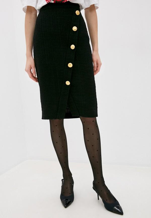 женская прямые юбка boutique moschino, черная
