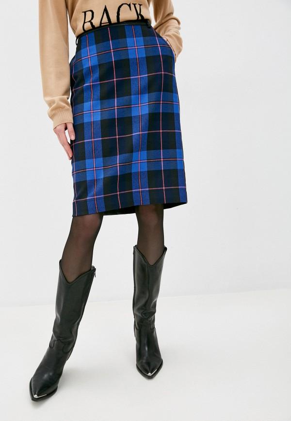 женская прямые юбка boutique moschino, синяя