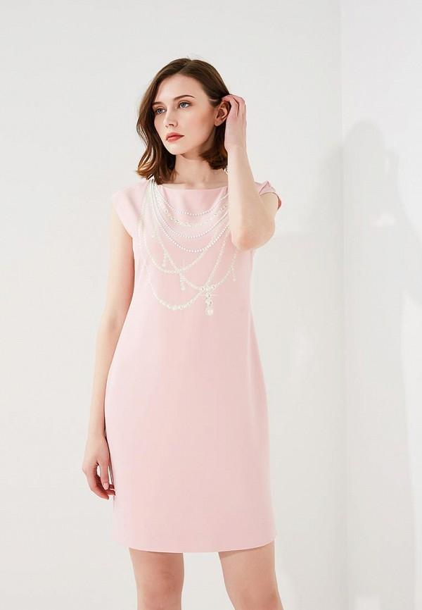 женское повседневные платье boutique moschino, розовое