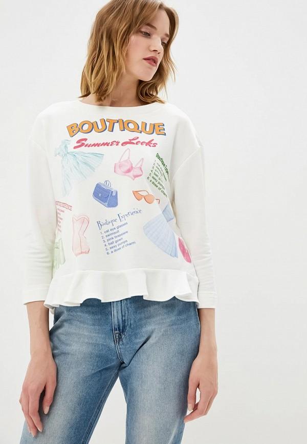 женский лонгслив boutique moschino, белый