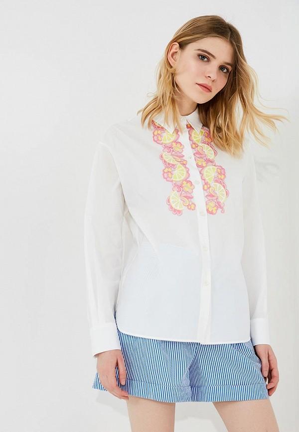 женская рубашка с длинным рукавом boutique moschino, белая