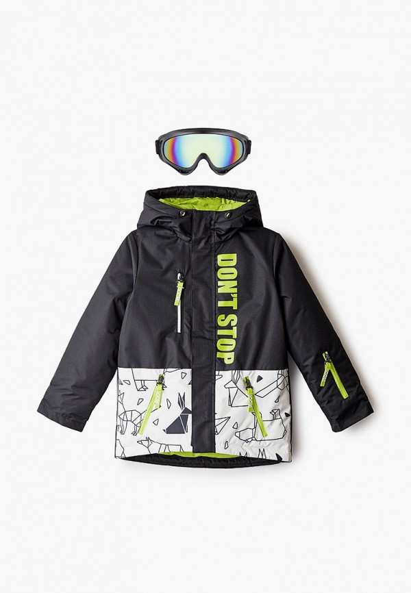куртка boom by orby для мальчика, черная