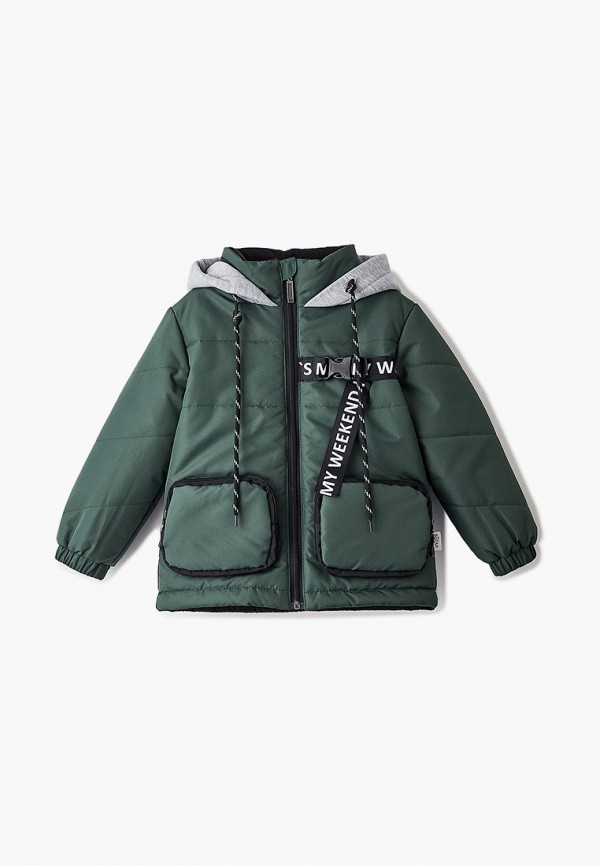 куртка boom by orby для мальчика, зеленая