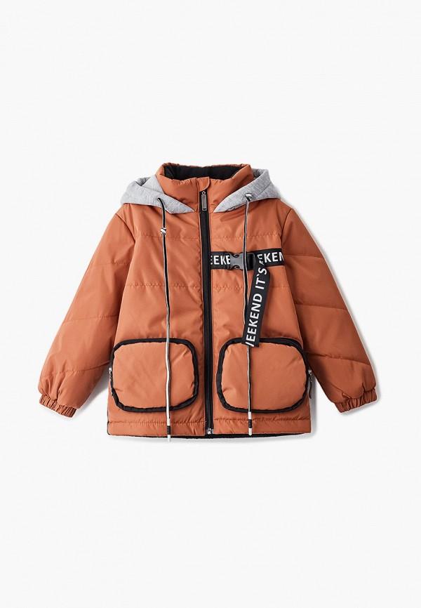 куртка boom by orby для мальчика, коричневая