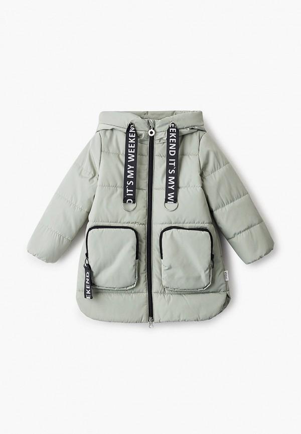 куртка boom by orby для девочки, зеленая