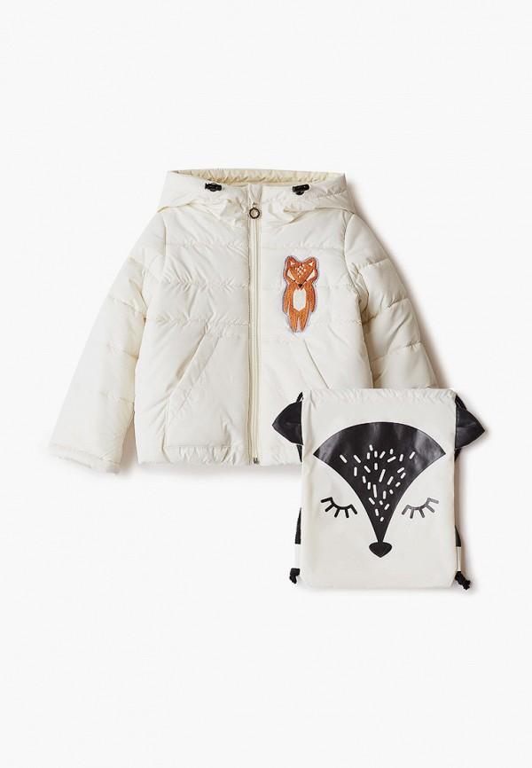 куртка boom by orby для девочки, бежевая