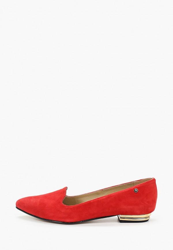 женские лоферы bosccolo, красные