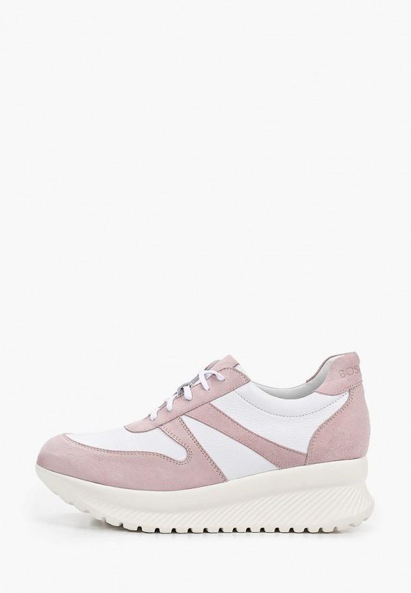женские кроссовки bosccolo, розовые