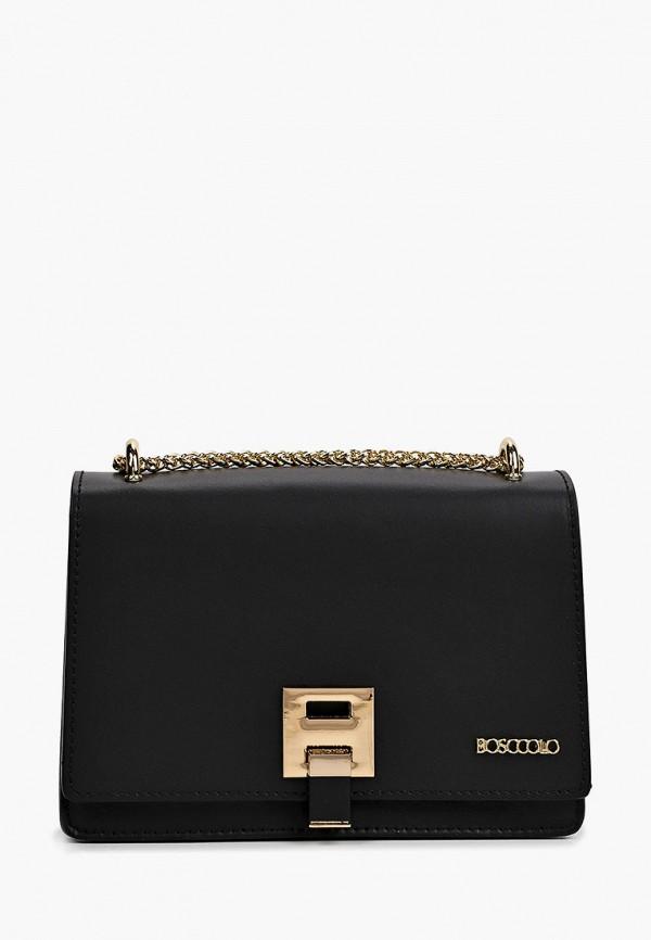 женская сумка через плечо bosccolo, черная