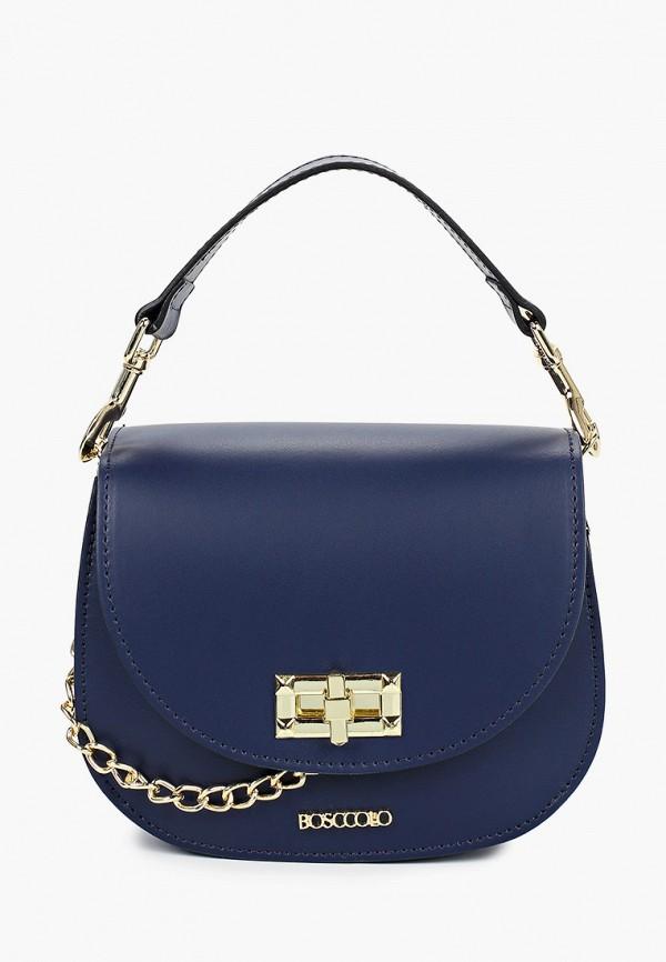 женская сумка bosccolo, синяя