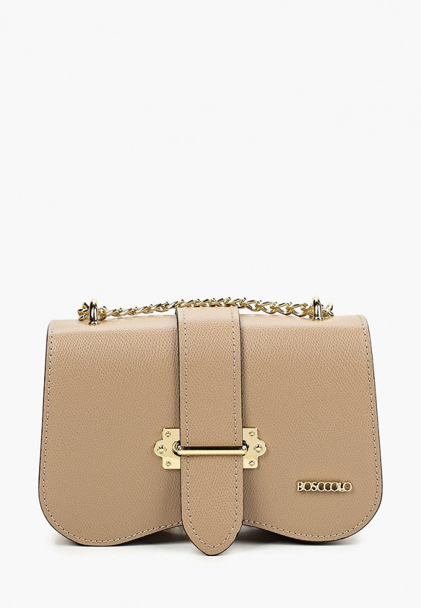 женская сумка bosccolo, бежевая