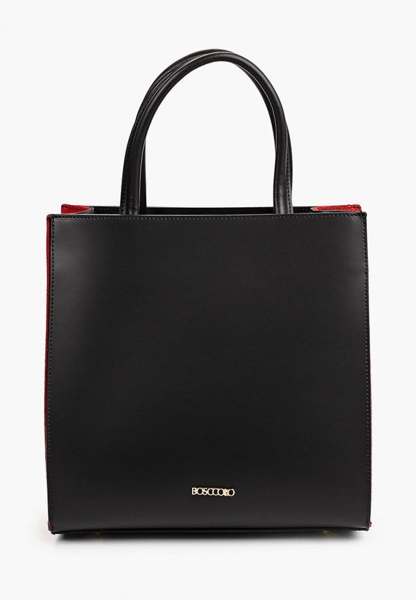 женская сумка с ручками bosccolo, черная