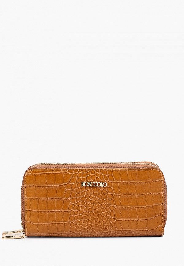 женский кошелёк bosccolo, коричневый