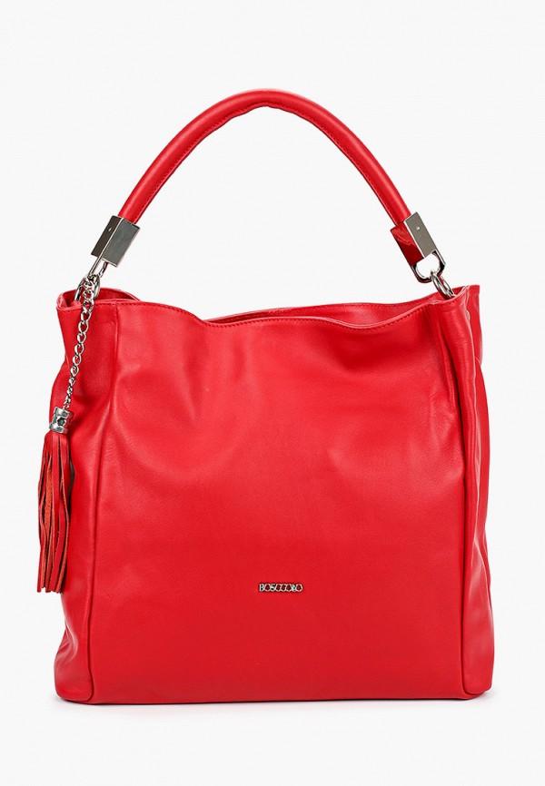 женская сумка bosccolo, красная