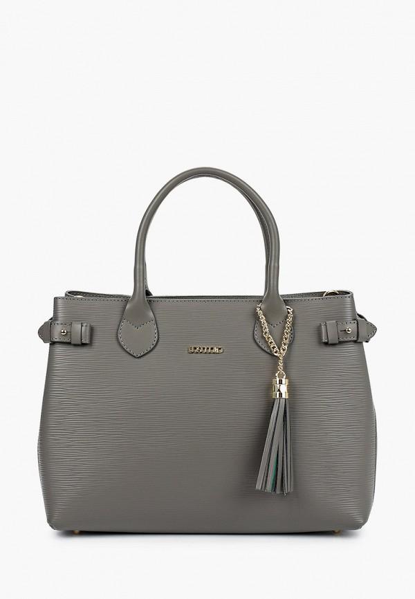 женская сумка bosccolo, серая