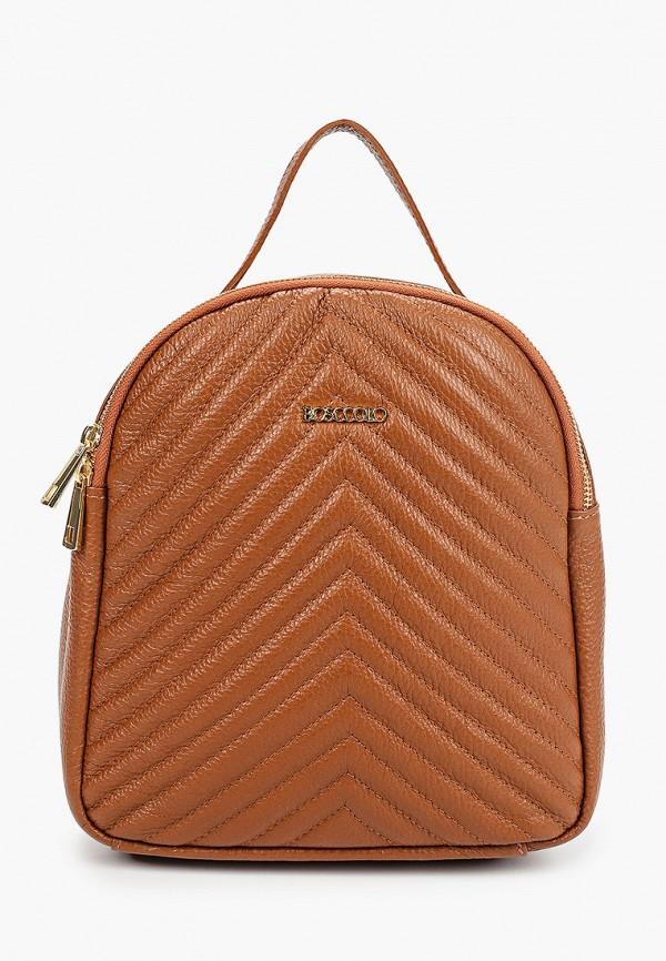женский рюкзак bosccolo, коричневый