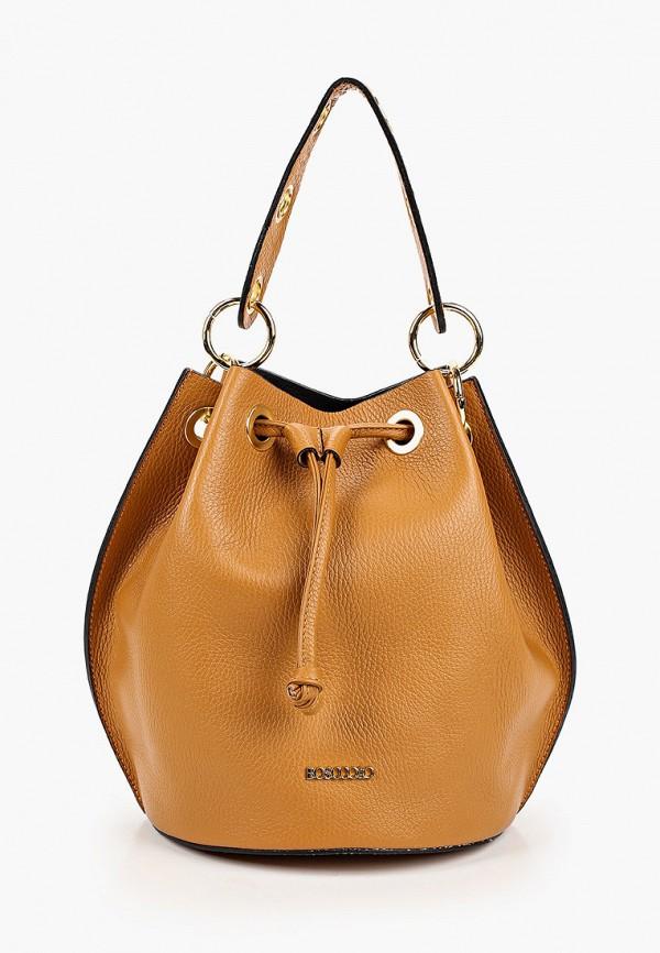 женская сумка bosccolo, коричневая