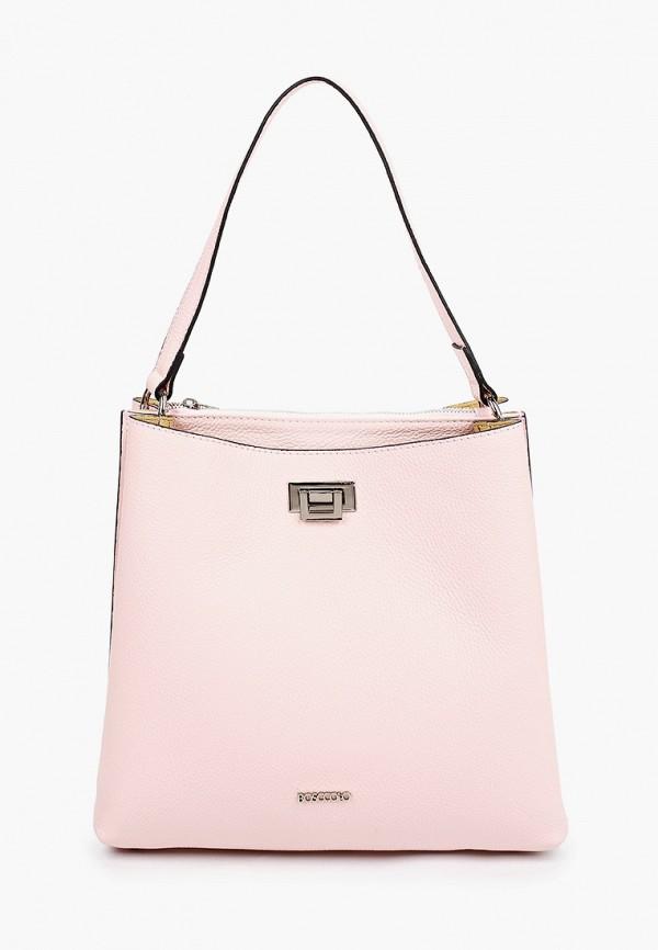 женская сумка bosccolo, розовая