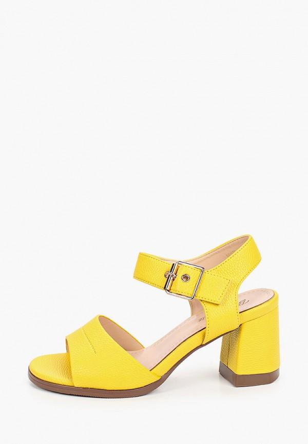 женские босоножки bona mente, желтые