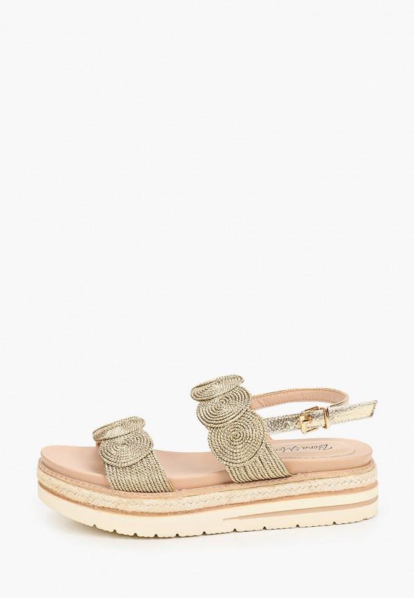женские сандалии bona mente, золотые