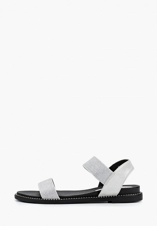 женские сандалии bona mente, серебряные