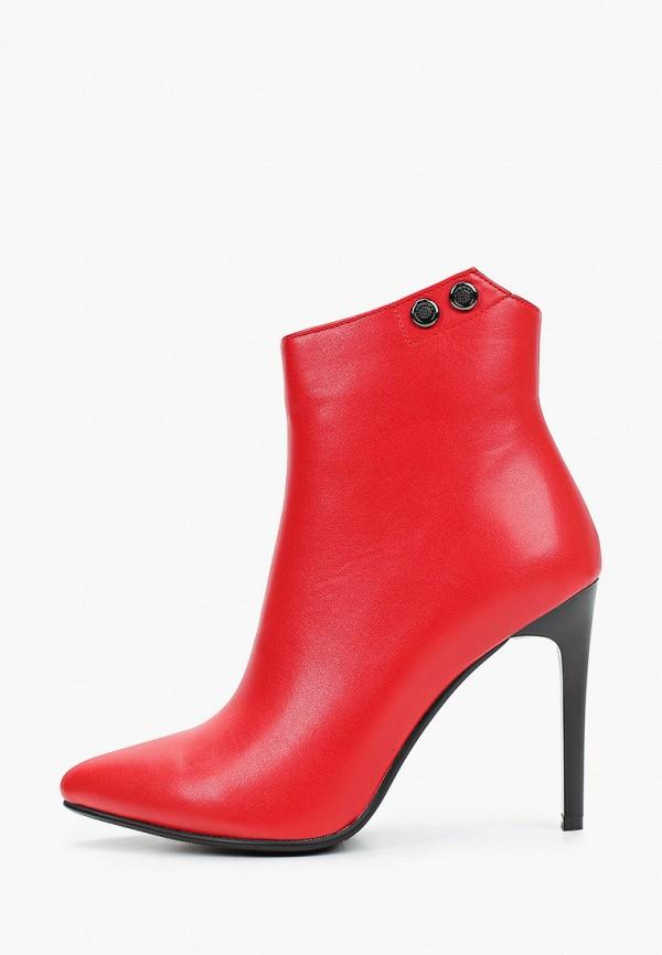 женские ботильоны bona mente, красные