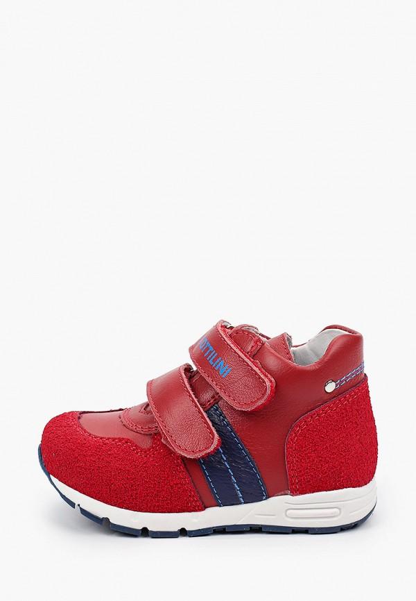 ботинки bottilini для мальчика, красные
