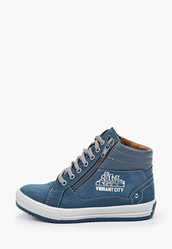 ботинки bottilini для мальчика, голубые