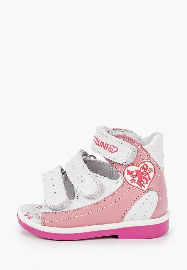 сандалии bottilini для мальчика, розовые