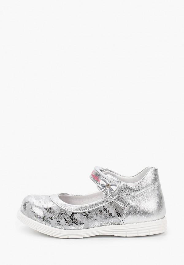 туфли bottilini для девочки, серебряные