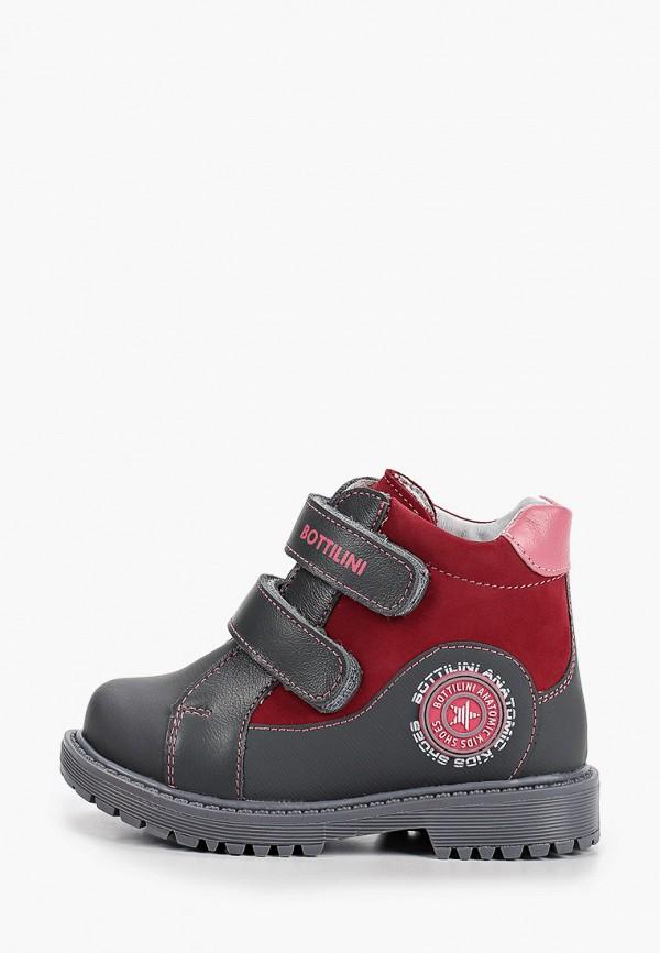 ботинки bottilini для девочки, серые