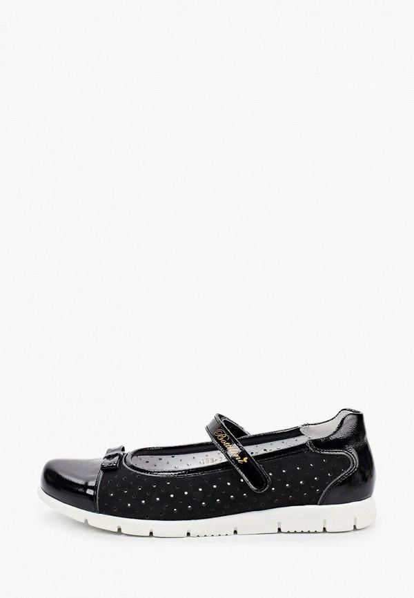 туфли bottilini для девочки, черные
