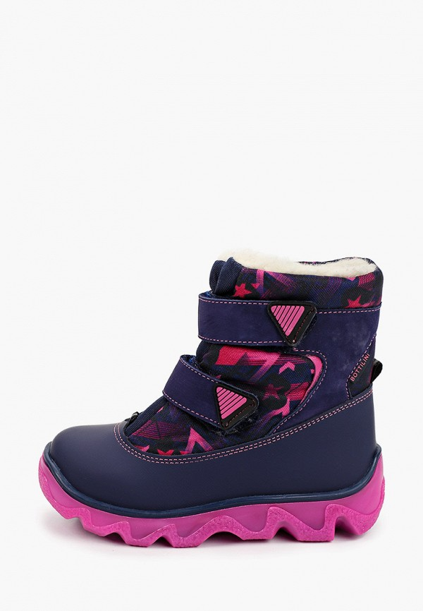 ботинки bottilini для девочки, синие
