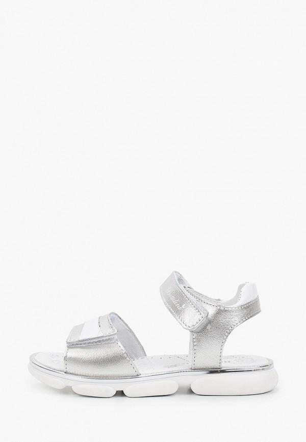 сандалии bottilini для девочки, серебряные