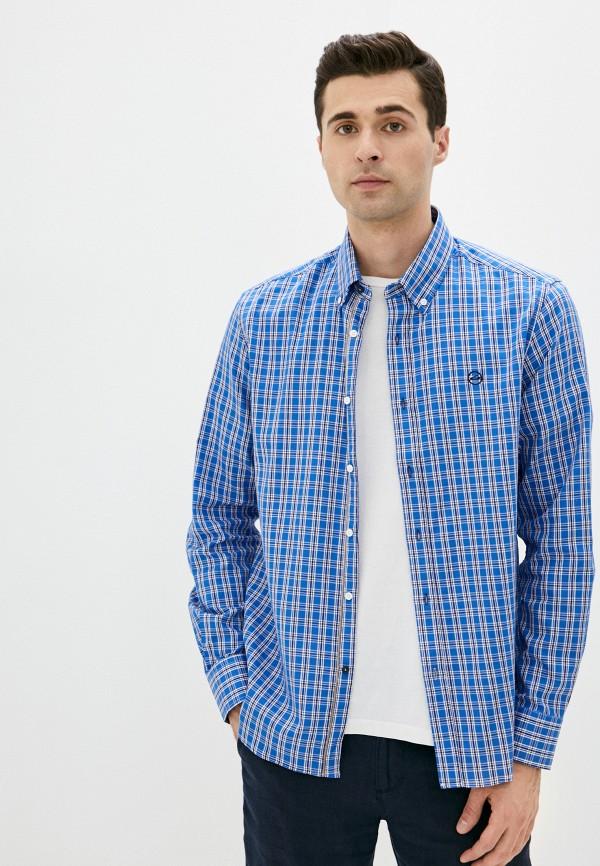 мужская рубашка с длинным рукавом boston, синяя
