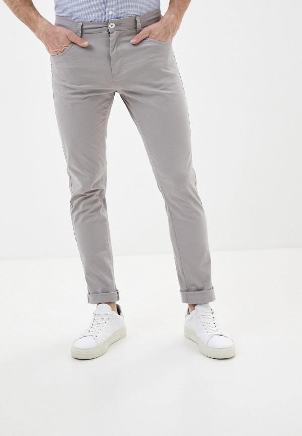 мужские зауженные брюки boston, серые