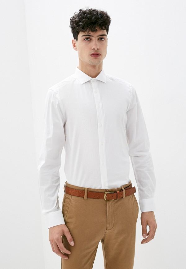 мужская рубашка с длинным рукавом boston, белая