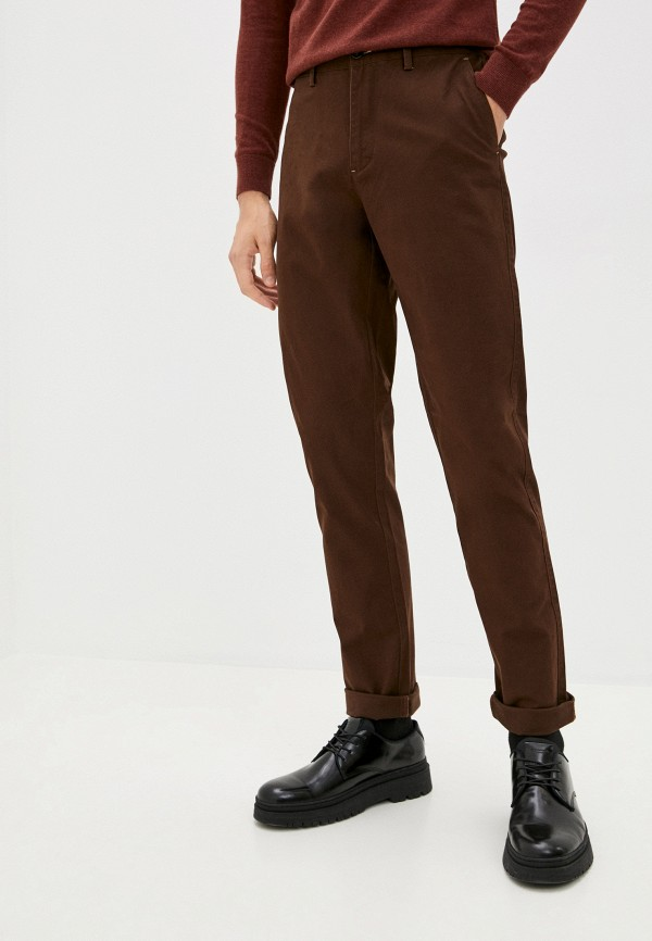 мужские брюки чинос boston, коричневые
