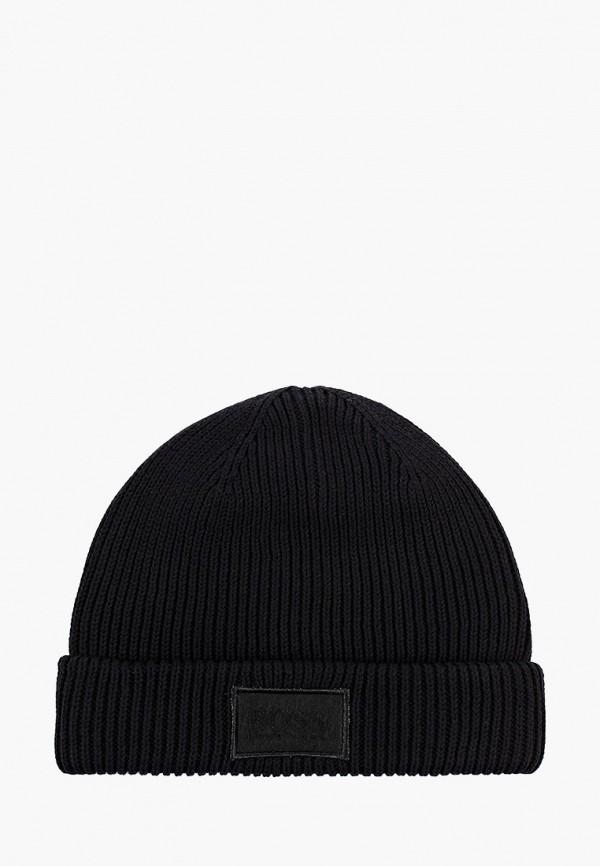 шапка boss для мальчика, черная
