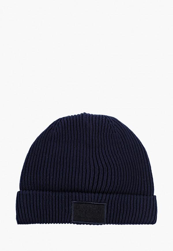 шапка boss для мальчика, синяя