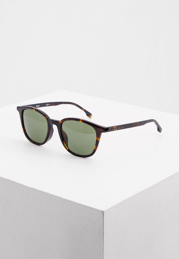 мужские солнцезащитные очки boss, коричневые