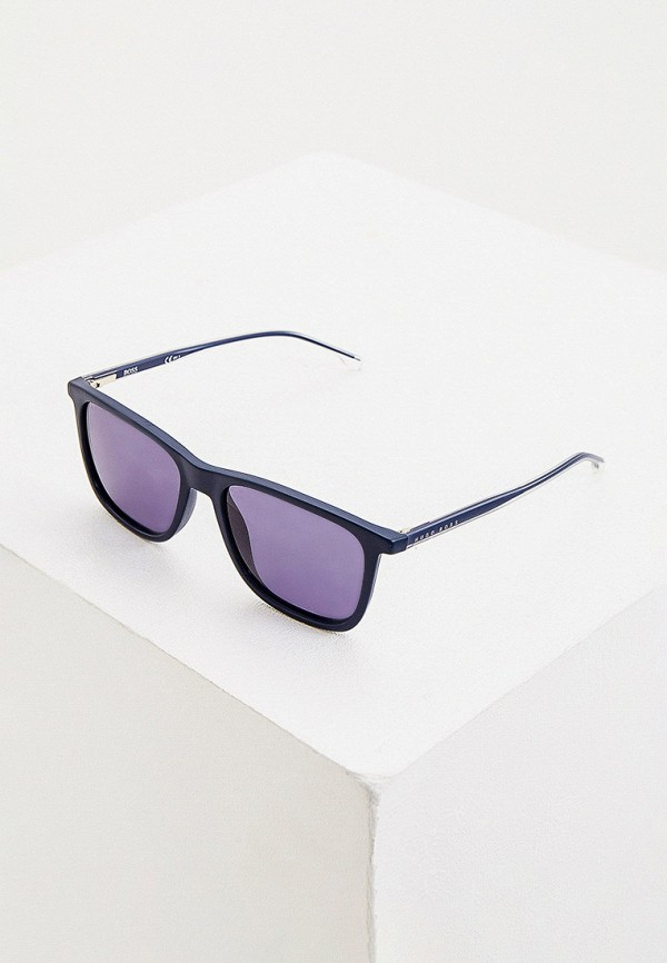 мужские квадратные солнцезащитные очки boss, синие