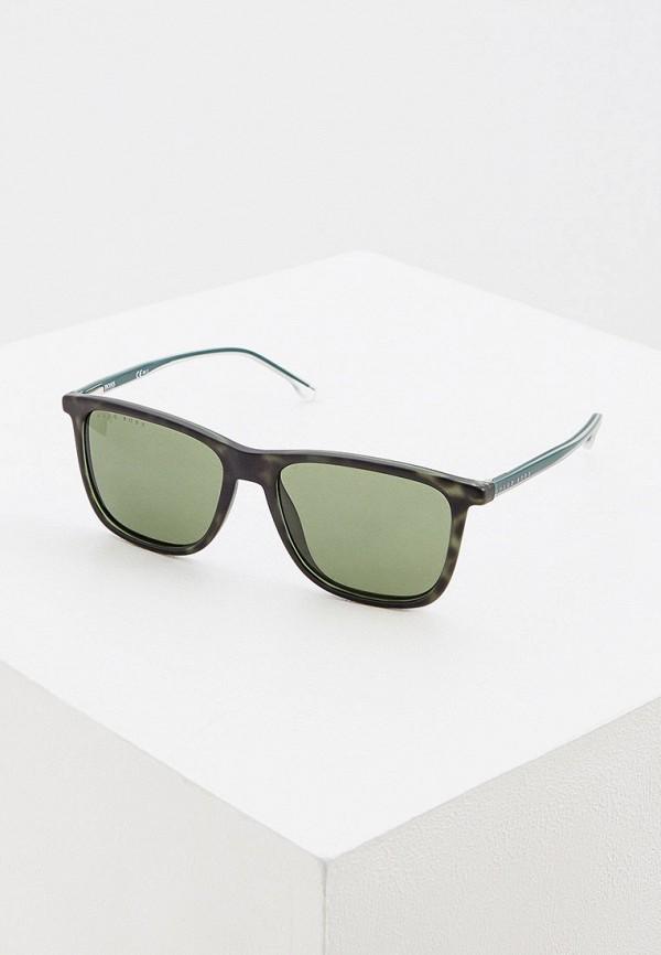 мужские квадратные солнцезащитные очки boss, зеленые
