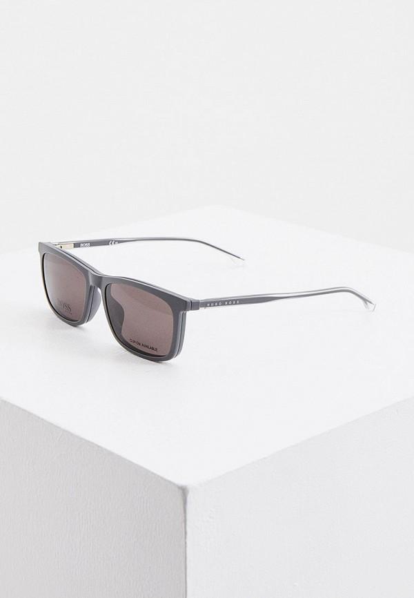 мужские солнцезащитные очки boss, серые