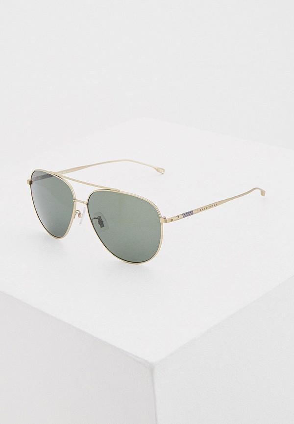 мужские авиаторы солнцезащитные очки boss, золотые