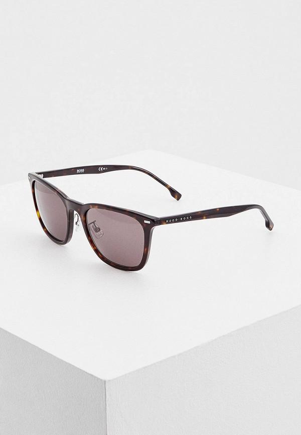 мужские квадратные солнцезащитные очки boss, коричневые