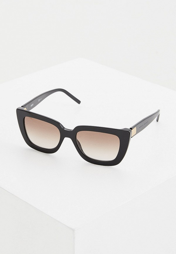 женские солнцезащитные очки boss, черные