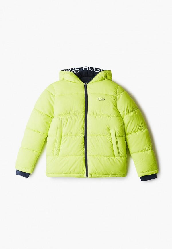 куртка boss для мальчика, желтая