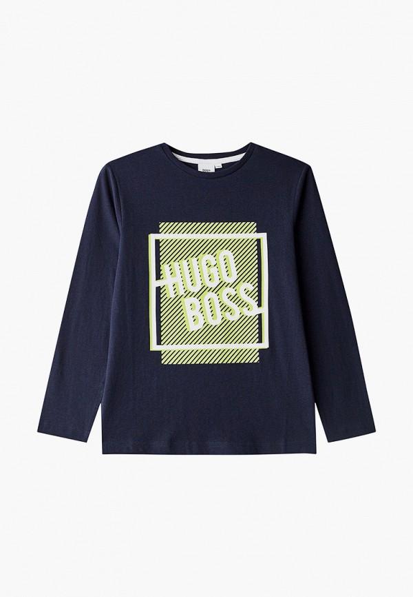лонгслив boss для мальчика, синий