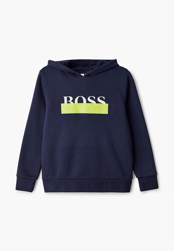 худи boss для мальчика, синие